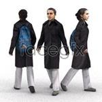 Walking people model 3D model