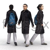 Walking people model 3D model