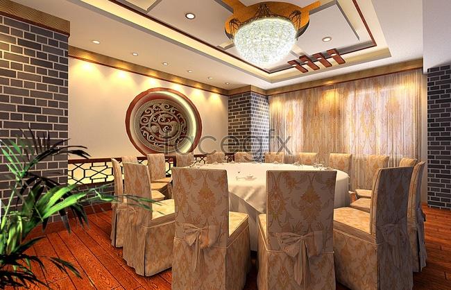 Chinese restaurant model 3D model