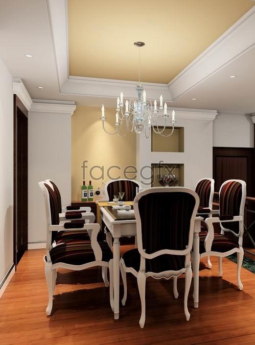 Continental restaurant model 3D model