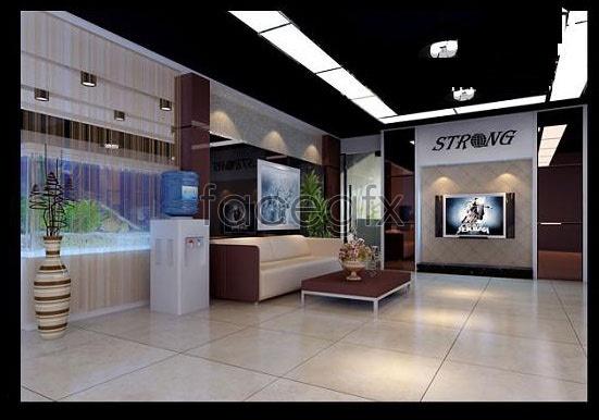 Reception room 3D model
