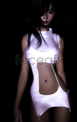 Sexy girl model 3D model