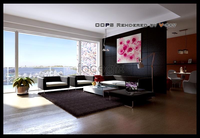 Living Room Models spacious living room models 3d model | free download