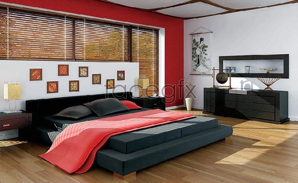 Effect picture of bedroom 3D model