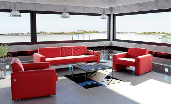 Living room effect chart 1 3D model