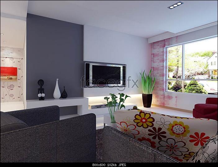 Pastoral minimalist style 3D