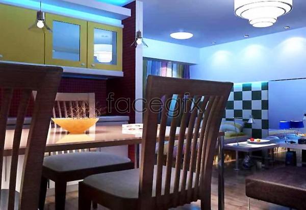 Restaurant 3D model 3