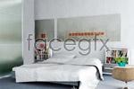 Elegant white bedroom 3D model