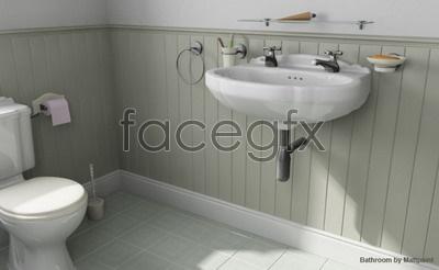 Toilet model 2 3D model