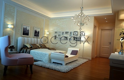 Boutique bedrooms design model 3D model