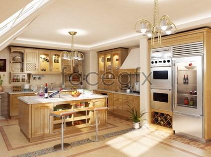 European-style kitchen model 3D model
