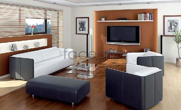 Living room effect chart 2 3D model