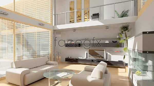 Living Room 3d Model living room effect chart 3 3d model | free download