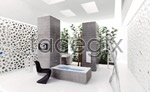 Bathing necessities exhibition space 2 3D model