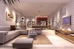 Stylish living room models 3D model