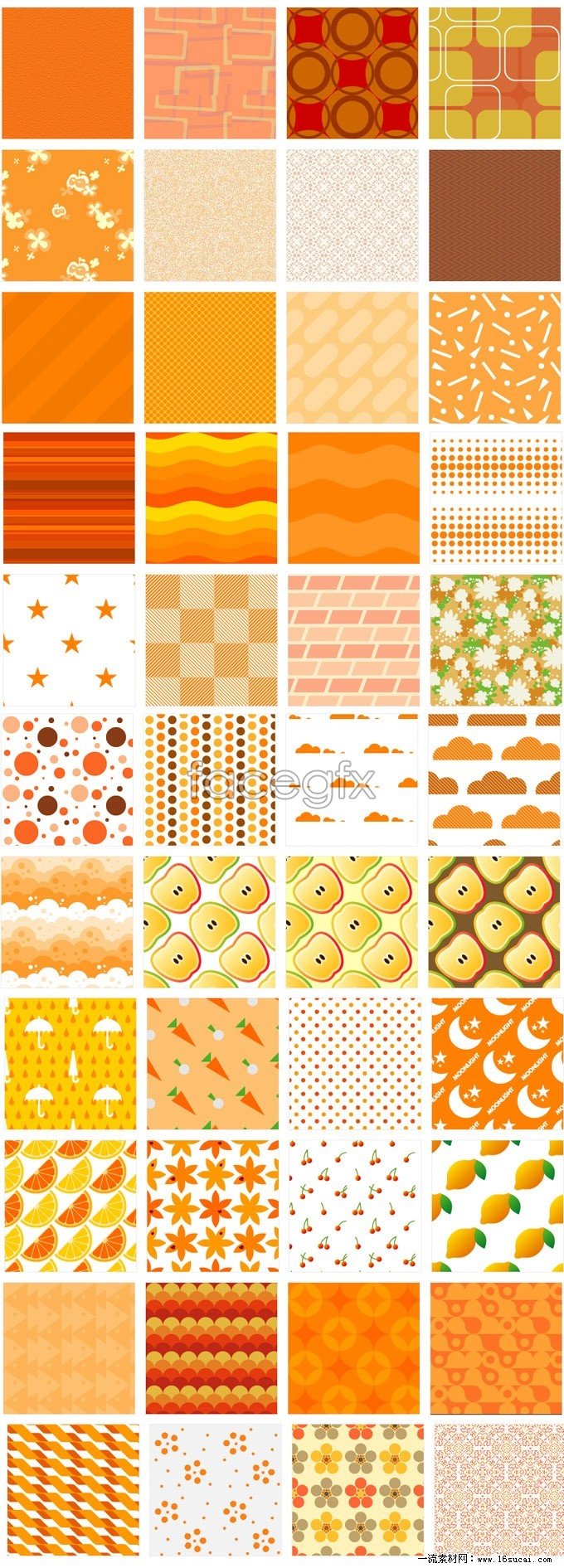 Cute Orange page background Pack