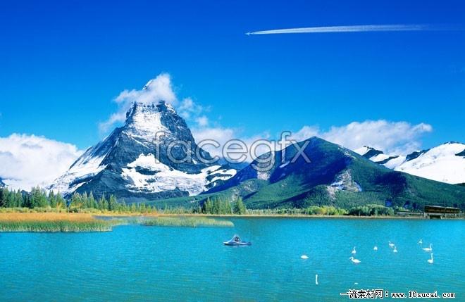HD natural lake landscape pictures