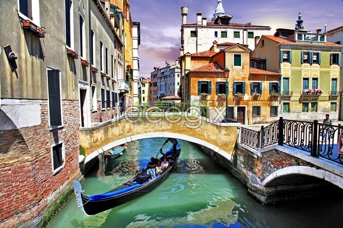 Venetian style Watercolour HD pictures