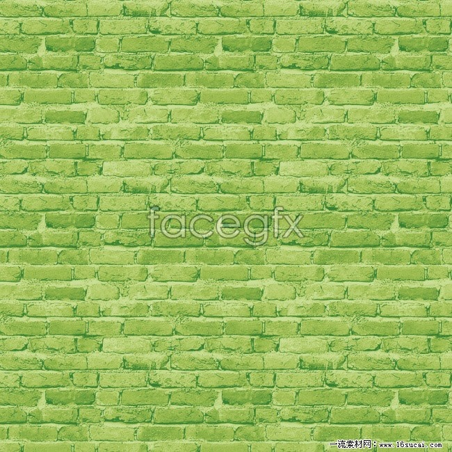 Green brick wall background picture