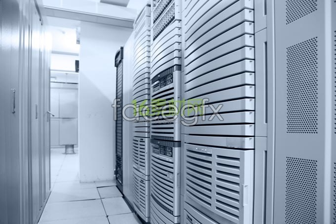 High-end server room Cabinet photo HD picture