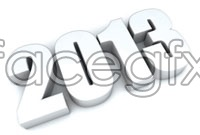 White 3D stereoscopic 2013 fonts HD pictures