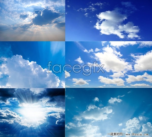 8 blue sky with white clouds high definition pictures