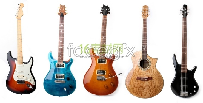 Color guitar high definition pictures