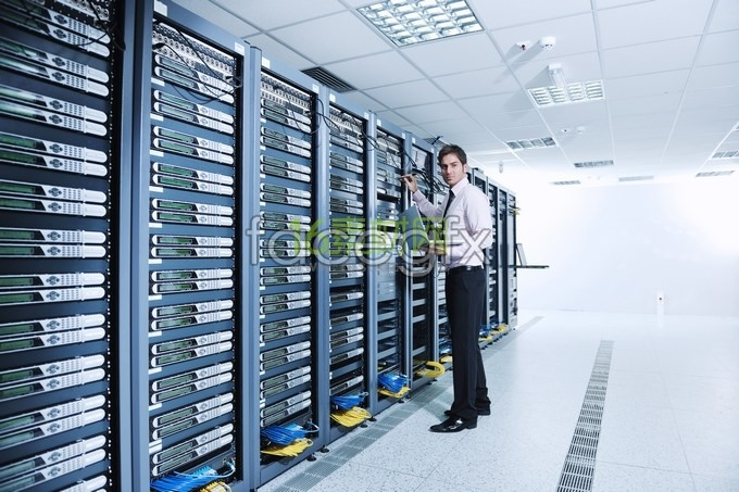 Engine room and data center engineers HD pictures