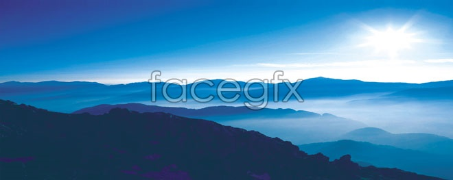 HD undulating mountains pictures
