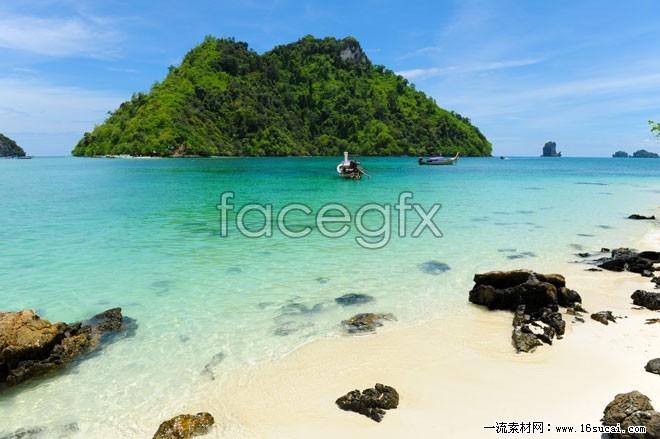 Sea Island landscape high resolution images