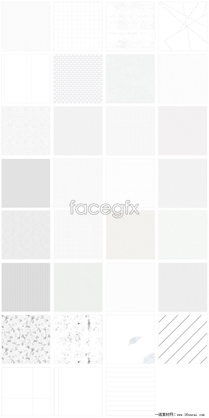 White page background Pack