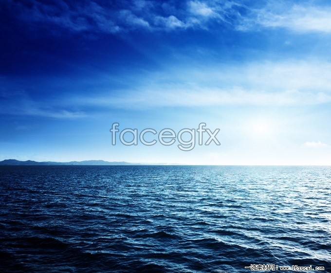 Beautiful blue sea level high definition pictures