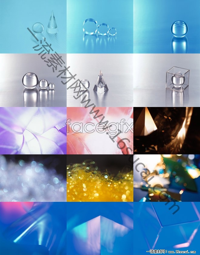 HD Crystal melting background Pack