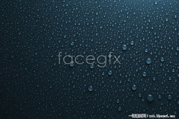 HD deep blue water drops background pictures to