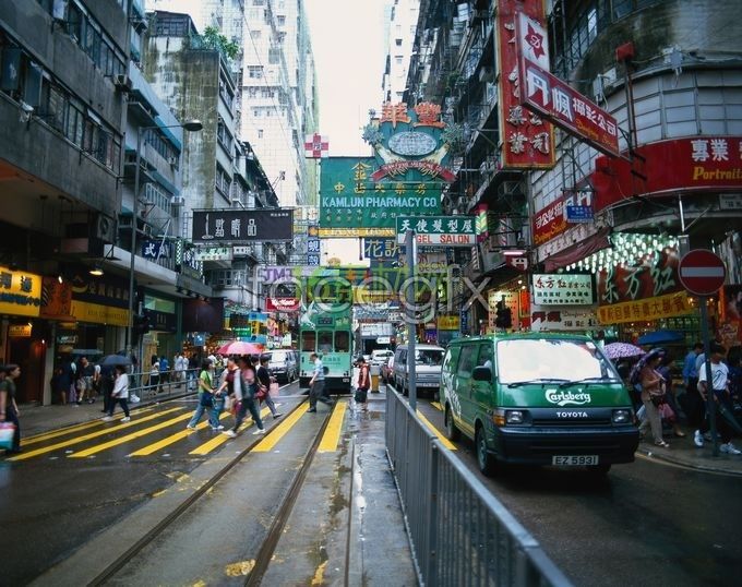 Hong Kong street scene HD pictures