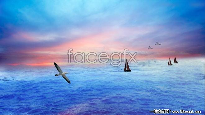 Voyage of the marine landscape HD pictures