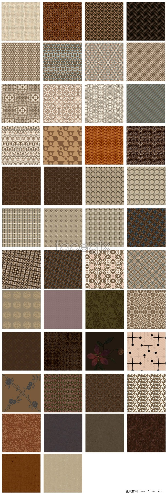 Brown pattern page background Pack
