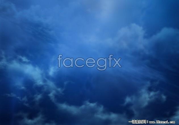 Deep blue sky HD picture