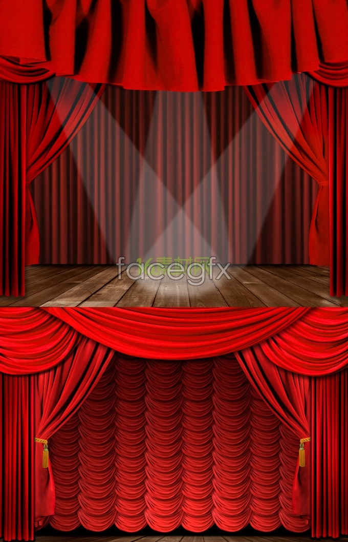 Exquisite stage curtain background pictures