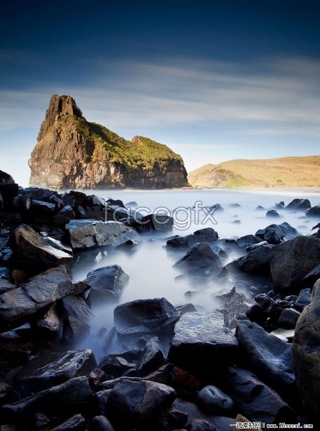 Hillside rock landscape high resolution images