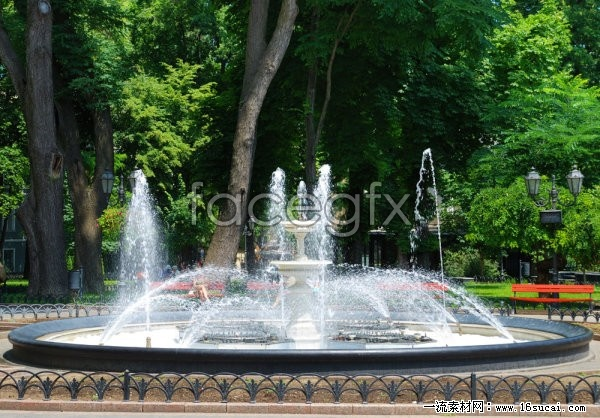 Musical fountain landscape high resolution images