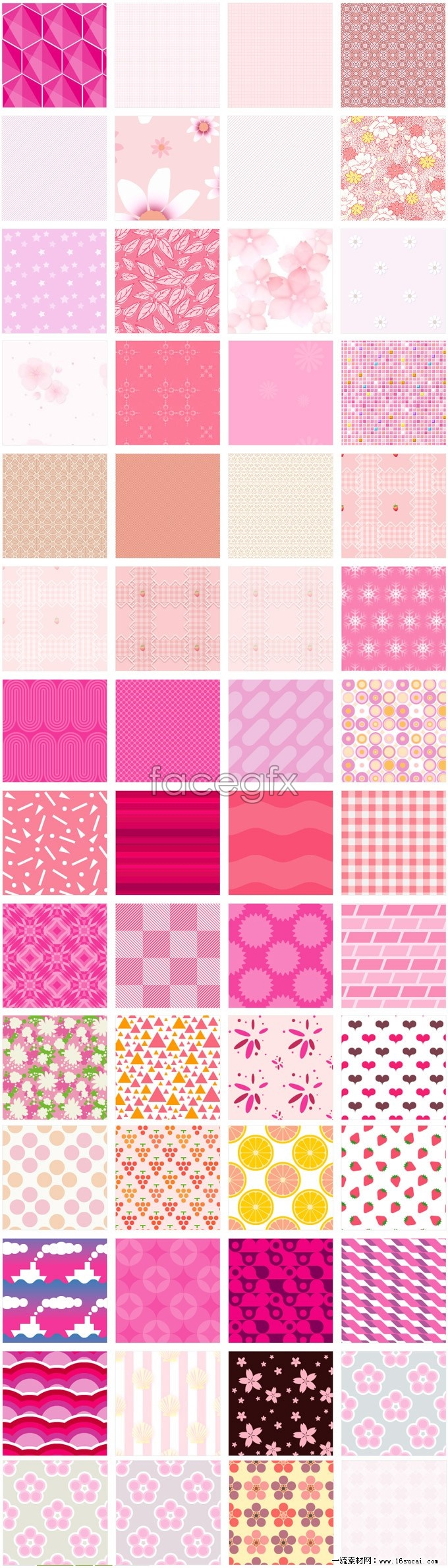 Pink background collection Pack