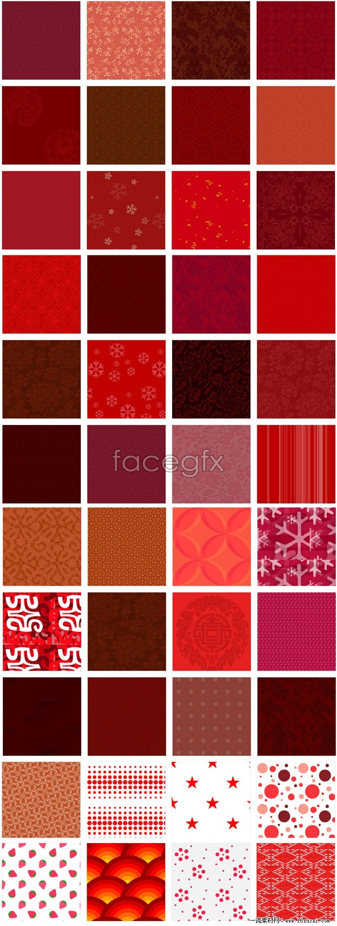 Red page background highlights package