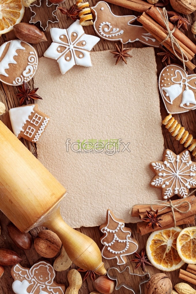 Chocolate biscuits, nuts, high resolution images