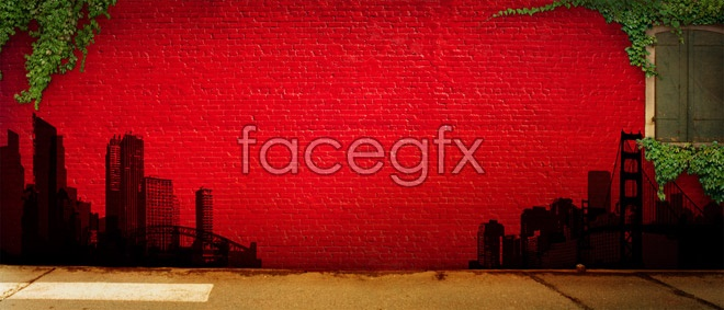 Download HD picture red brick wall background