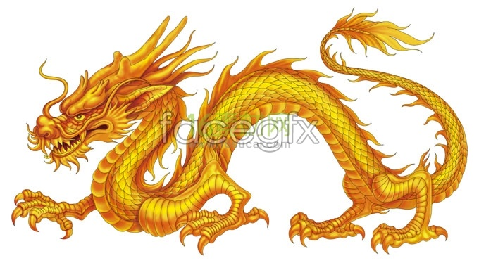 Hand-painted Chinese dragons images