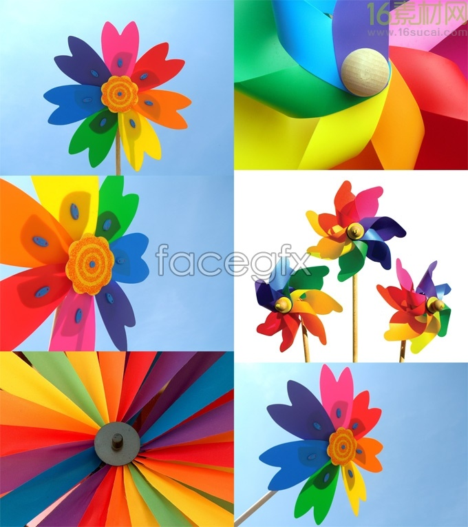 HD colorful windmill photograph