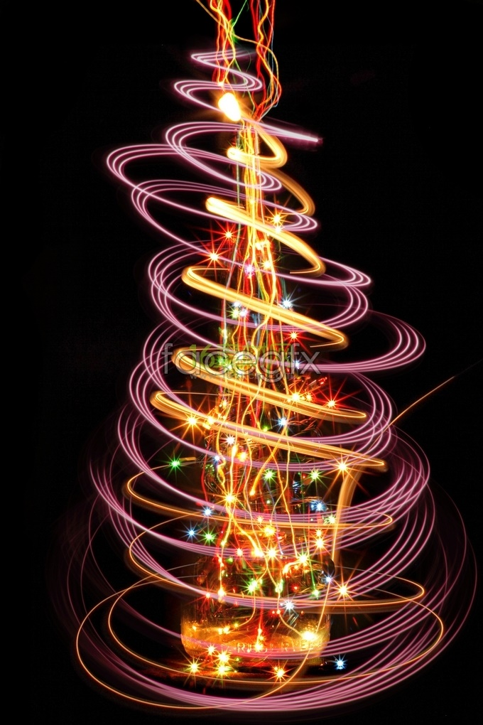 HD HD dancing brilliantly lighted garden light Christmas tree pictures