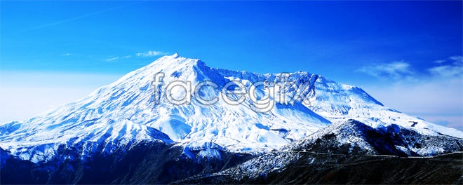HD snow mountain scenery picture