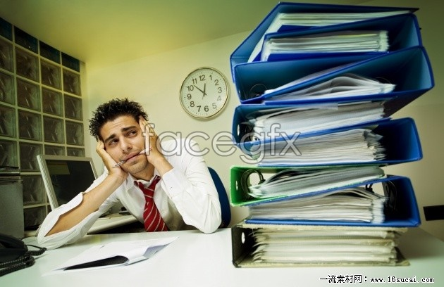 Office worker pressure picture